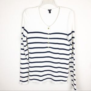 J. Crew Thermal Henley Long Sleeve Medium Top